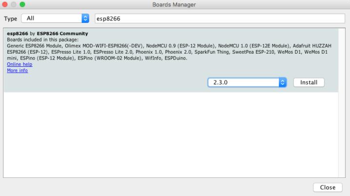 install esp8266